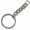 Keychain Split Ring/Curb Chain 25mm Nickle